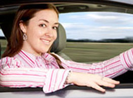 Auto Insurance - Woman Driving