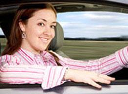Auto Insurance - Woman Driving